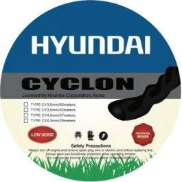 HYUNDAI CYCLON 4.5 Μεσινέζα θαμνοκοπτικού Στριφτή 4.5mm x 29mt