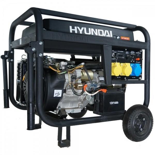 HYUNDAI Γεννήτρια Επαγγελματική βενζίνης 7KVA 230V HY7000LK